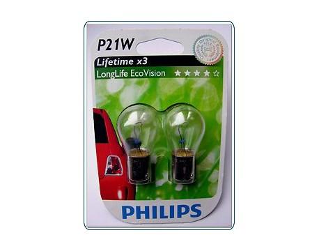 Bec, lampa ceata spate PHILIPS 12498ECOB2 P21W EcoVision