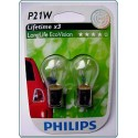 Bec lampa ceata spate Philips 12498LLECOB2 P21W LongLife EcoVision