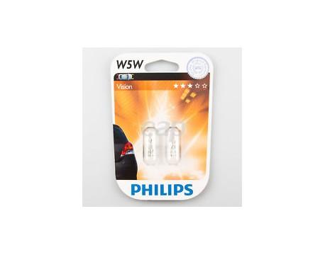 Bec, iluminare habitaclu Philips 12961B2 W5W 12V 5W blister 2 buc.