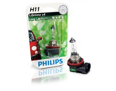 Bec Proiector Ceata Philips 12362LLECOB1 H11 LongLife EcoVision