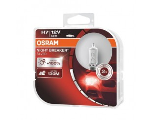 Bec Far Osram H7 Night Breaker Silver +100% 12V/55W 2 bucati