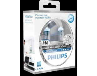 Bec Far Philips H4 WhiteVision (set 2 buc)