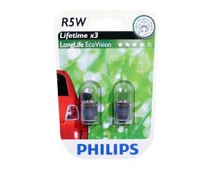 Bec,lumini de stationare Philips 12821LLECOB2 R5W LongLife EcoVision