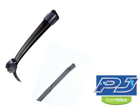 Set stergatoare parbriz ValeoStergator PJ flat blade, Uni-Click-2D, 450mm
