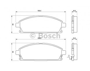 Set placute frana fata Bosch cu avertizare sonora Nissan X-Trail 2001-2013