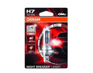 Bec auto far halogen Osram H7 Night Breaker Laser, +130%, 55W, 12V, Px26D, 1Buc
